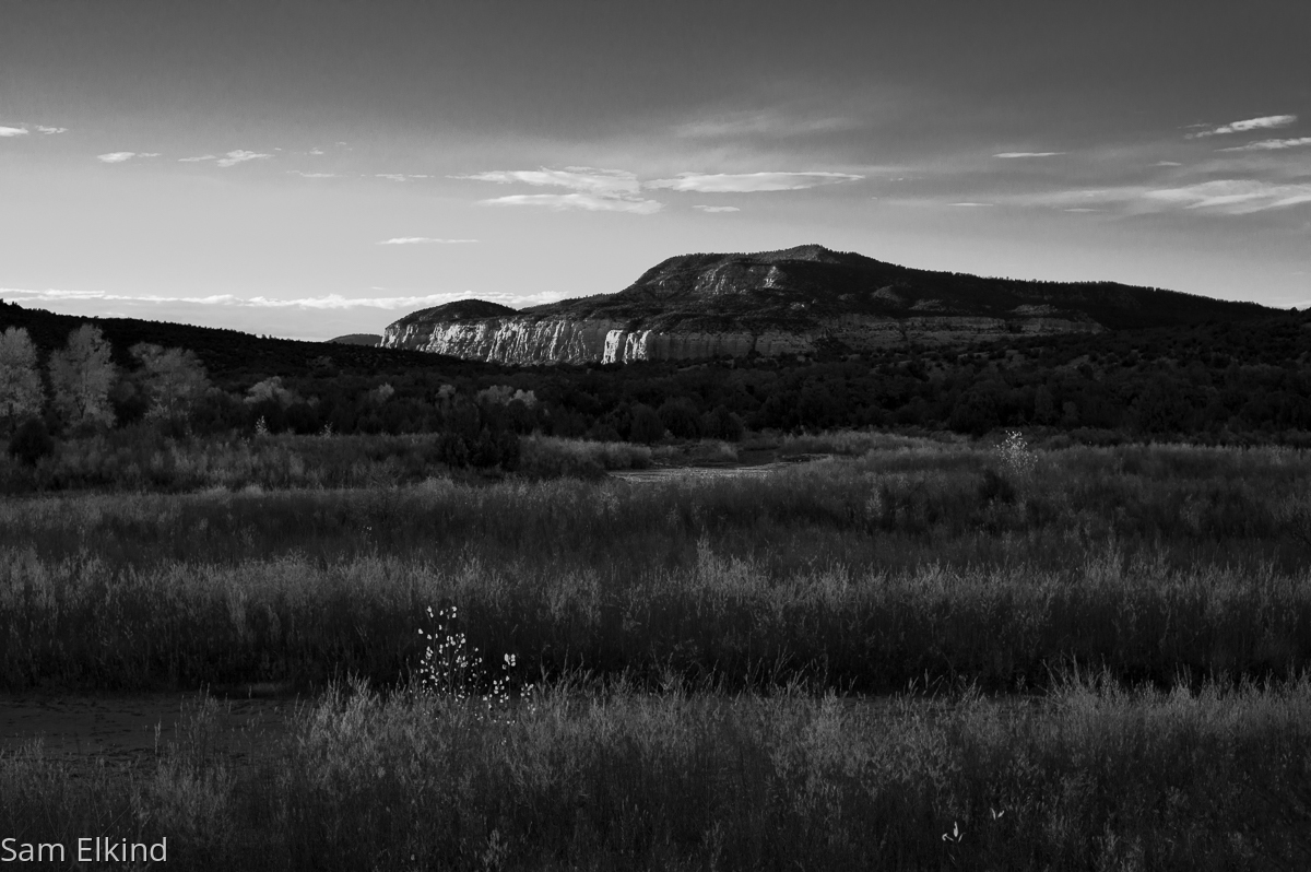 Last Light on the Chama (large view)