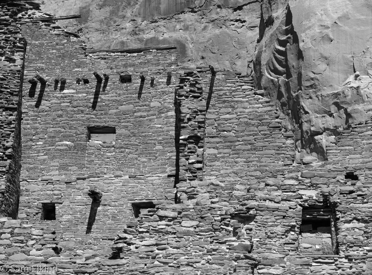 Pueblo Bonito Against the Cliff (large view)