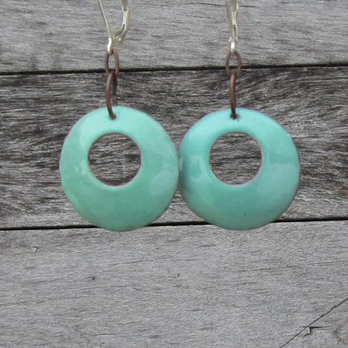 Turquoise 70's style earrings