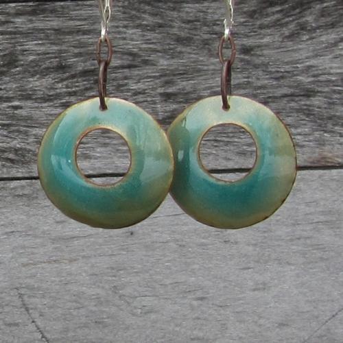 Bluegreen 70's style earrings