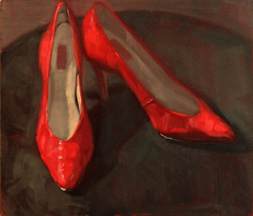 Karla's Red Shoes-SOLD