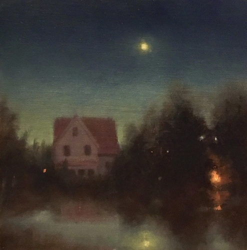 Night at the Lake House-SOLD