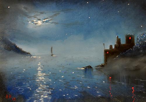 Mist Rising, moonlit dartmouth