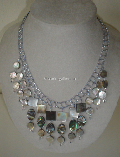 Grey Squares Necklace