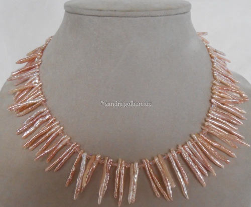 Pink Spiny Pearl Necklace