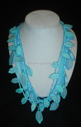 Aqua Leaf Necklace