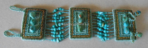 Needlework bead Bracelet - Turquoise