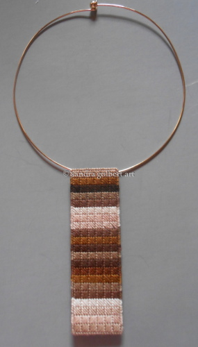 Needlepoint Pendant Brown