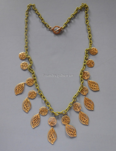 Leaves and Coins Necklace