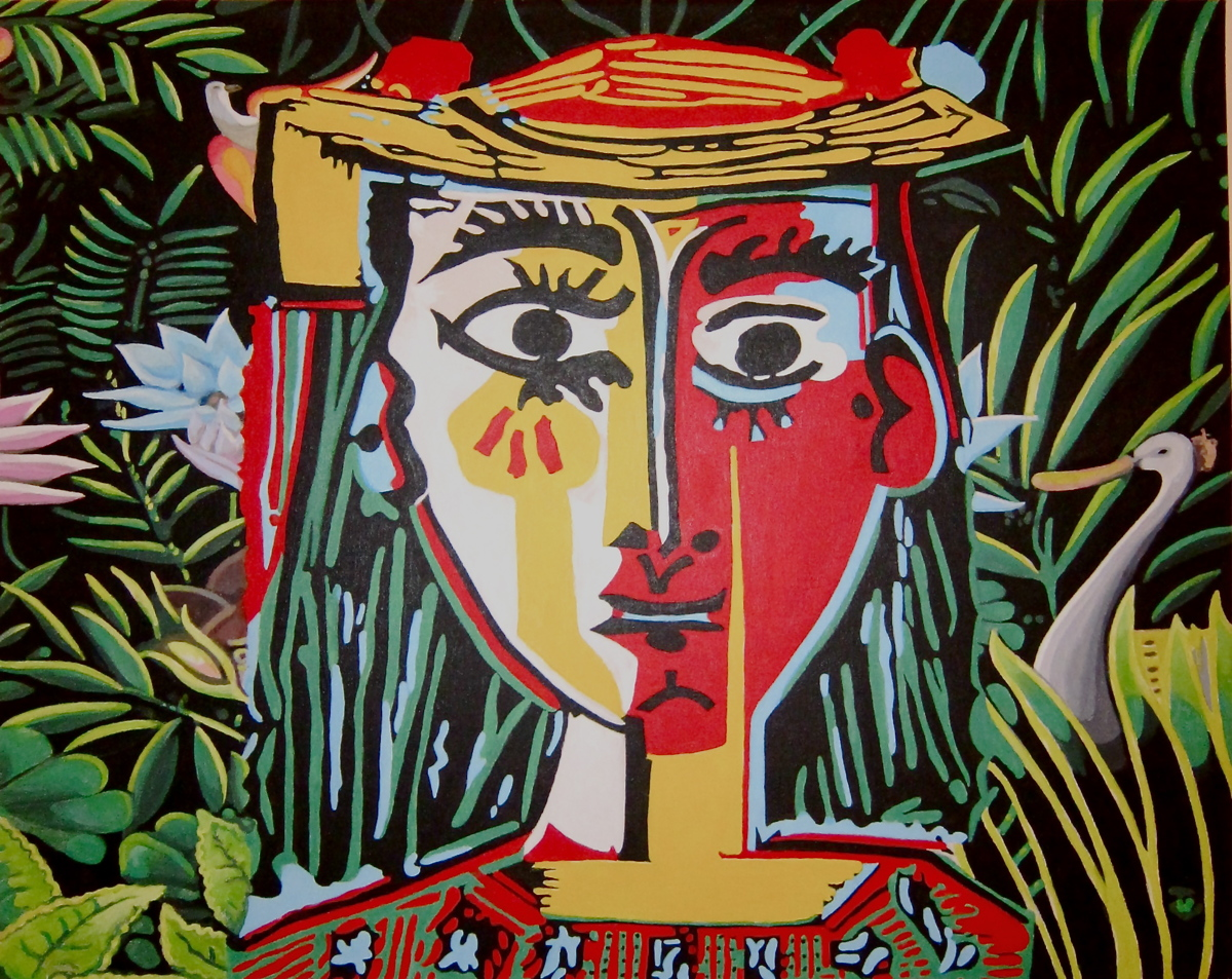 Jungle (after Picasso and Rousseau) (large view)