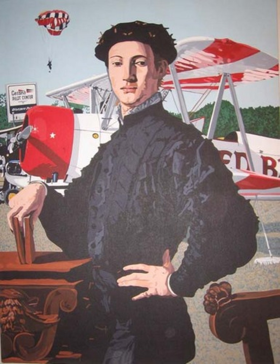 Young Man at Airport (after Bronzino) (large view)