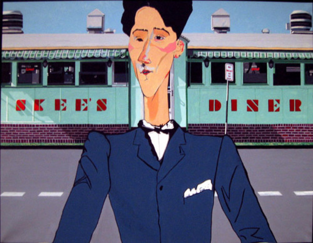 Skees Diner (after Modigliani) (large view)