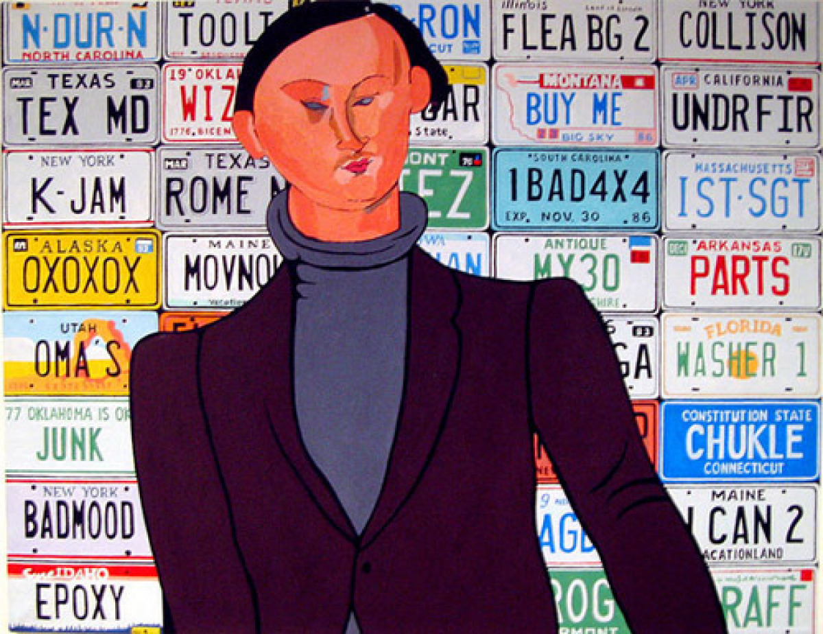 License Plates (after Modigliani) (large view)