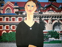 Painting--AcrylicEllis Island (after Modigliani)