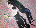 The Kiss (after Chagall and Haring) (thumbnail)