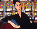 Painting--AcrylicLas Vegas (after Modigliani)