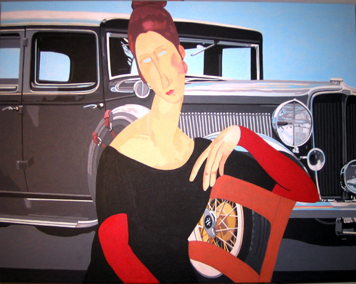 Antique Car (after Modigliani) (large view)