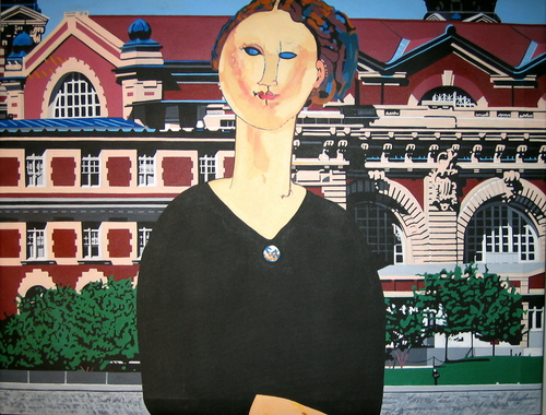 Ellis Island (after Modigliani) (large view)