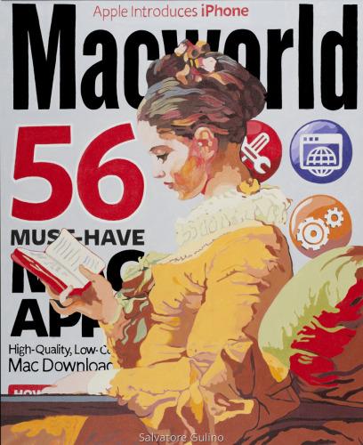 Girl Reading (after Fragonard) by Salvatore Gulino
