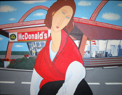 McDonald's (after Modigliani) (large view)