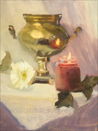 CANDLE AND URN