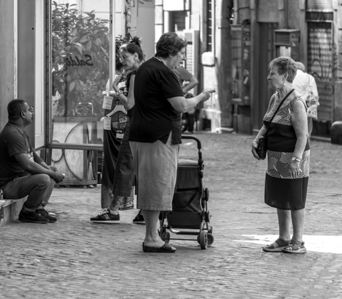 daily conversations on the street...