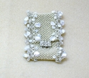 Silver, Pearl & Crystal Cuff (thumbnail)
