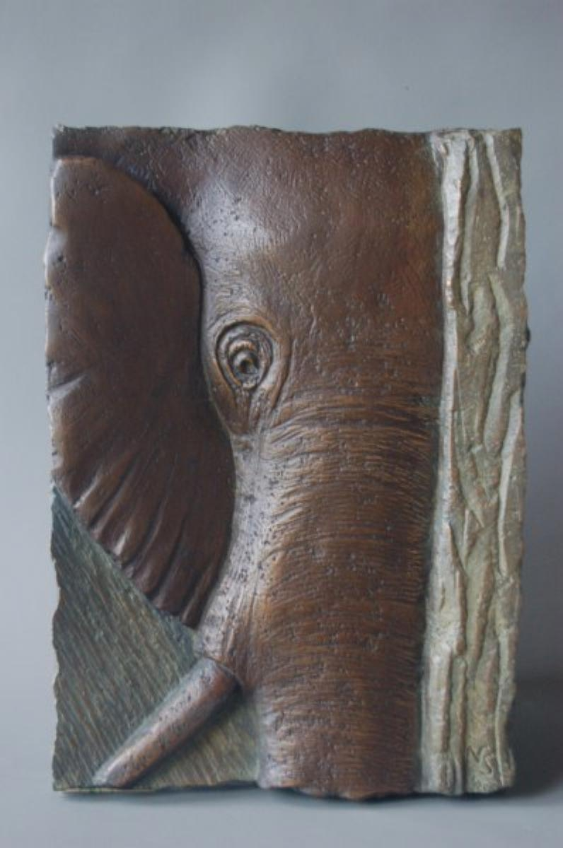 Bronze Elephant Relief -- limited edition 1/20  (large view)