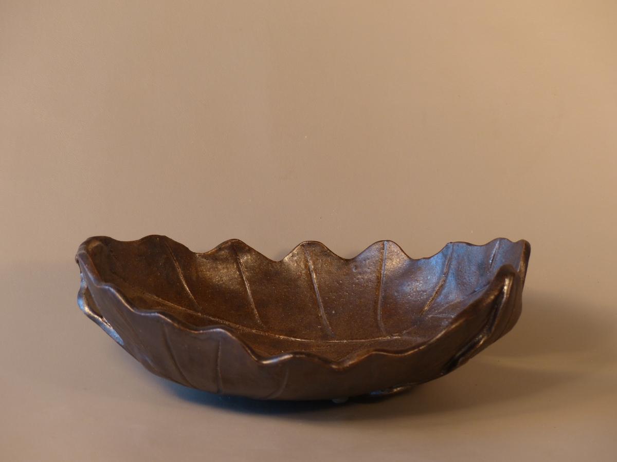 Ceramic Leaf Bowl b (large view)