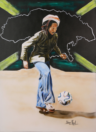 Bob Marley with Brazuca