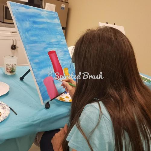Painting in a variety of ways