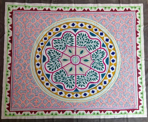Shipibo textile: The Cosmic Serpent
