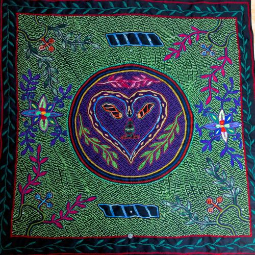 Shipibo textile: Heart of Cosmic Serpent