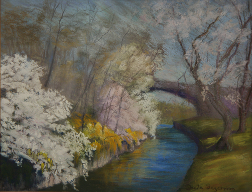 Cherry Blossoms in the Park by Sheila Sugerman