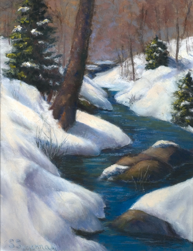 Brook Through Snow-Laden Woods by Sheila Sugerman