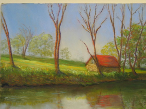 Cottage by the Canal by Sheila Sugerman