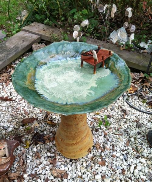 Birdbath by Sheila Watson Coutin