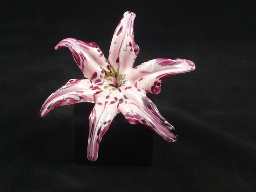 Open Petal Paperweight - Pink and Red