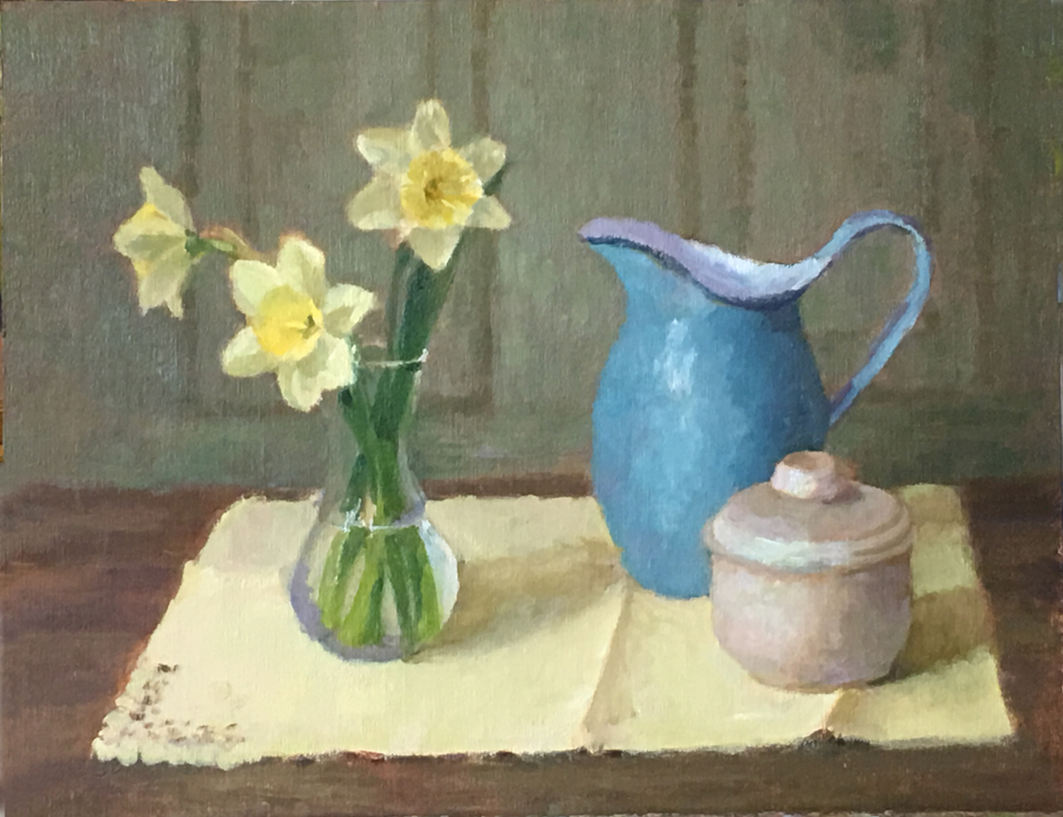 Jonquils and Pitcher (large view)