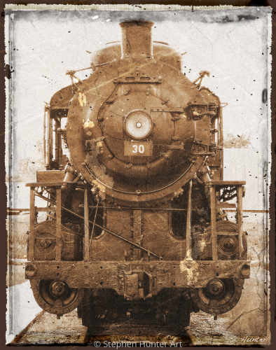 Sepia Locomotive