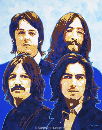 Blue Beatles painting