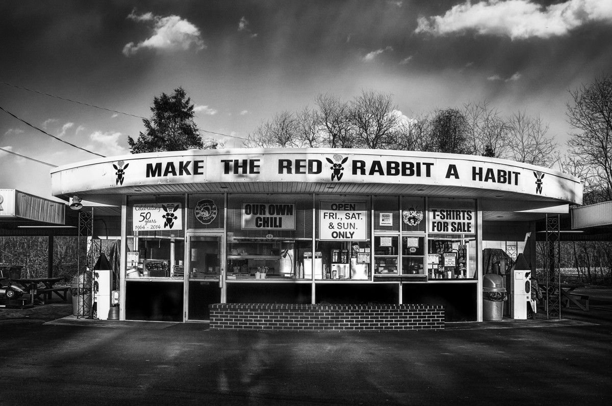 Red rabbit drive-in. (large view)