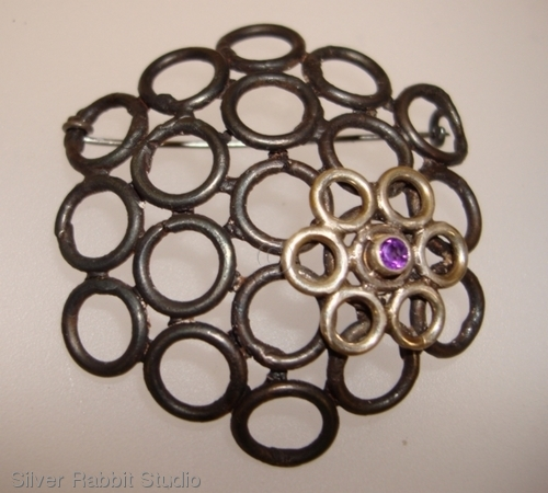 Steel Circle Brooch