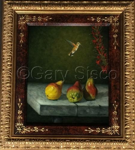 Humingbird and Pears