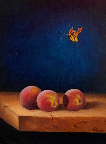 Butterfly and Peaches