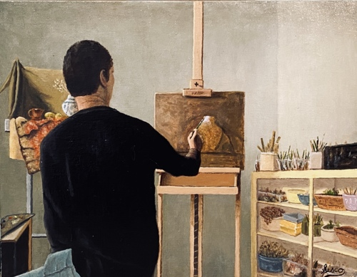 Artist Making Art