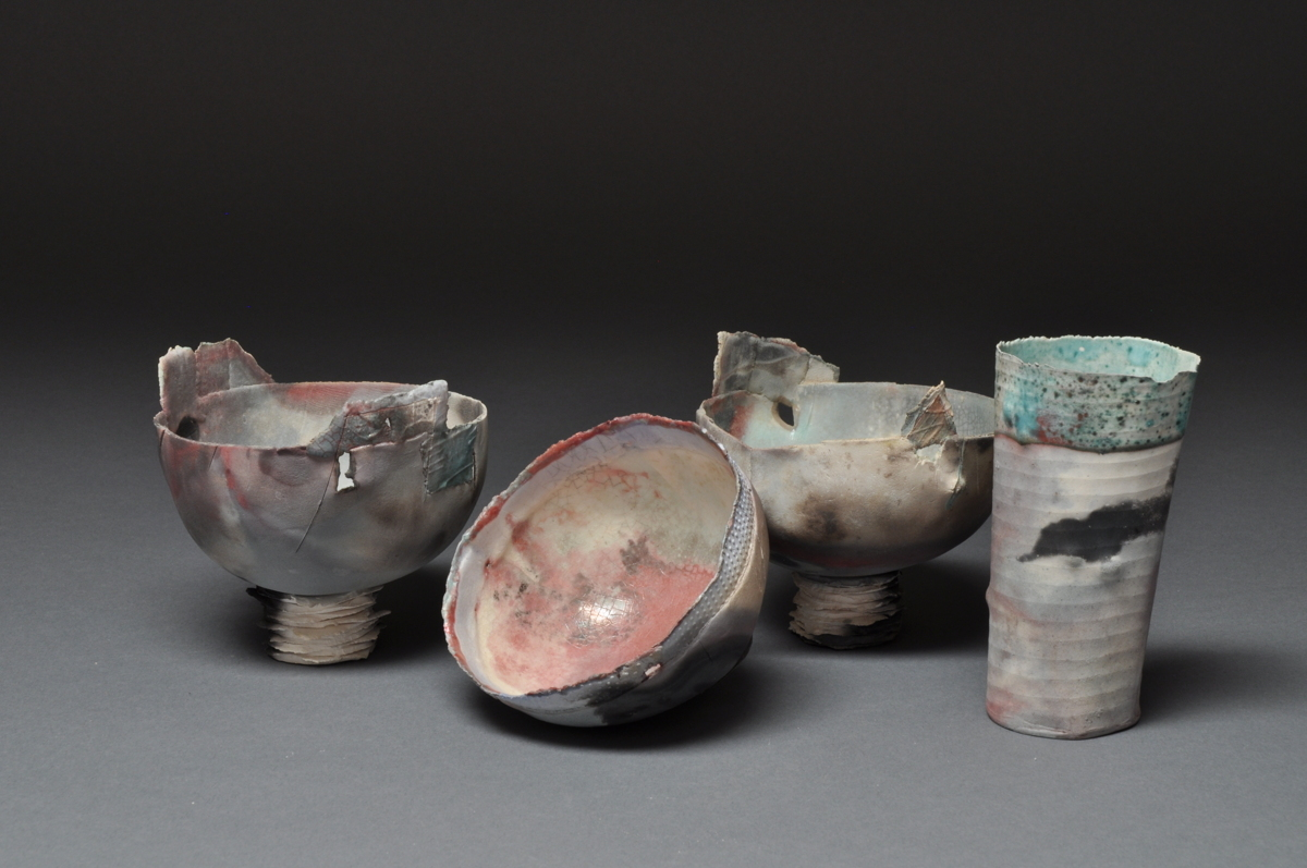 collection of sawdust fired vessels (large view)