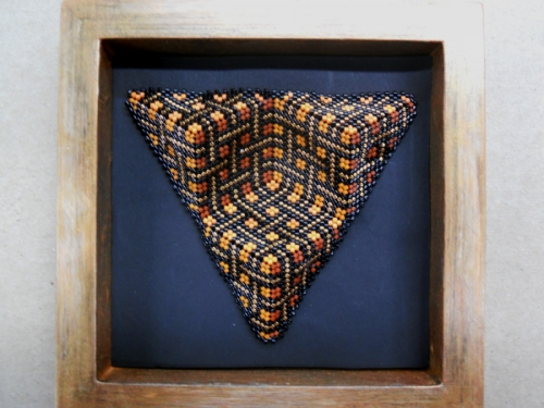 "Cube in a Triangle for ""L"" by Sally Shore Bijoux"