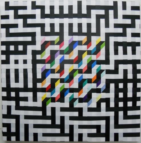A Maze Me I by Sally Shore Fiber Art