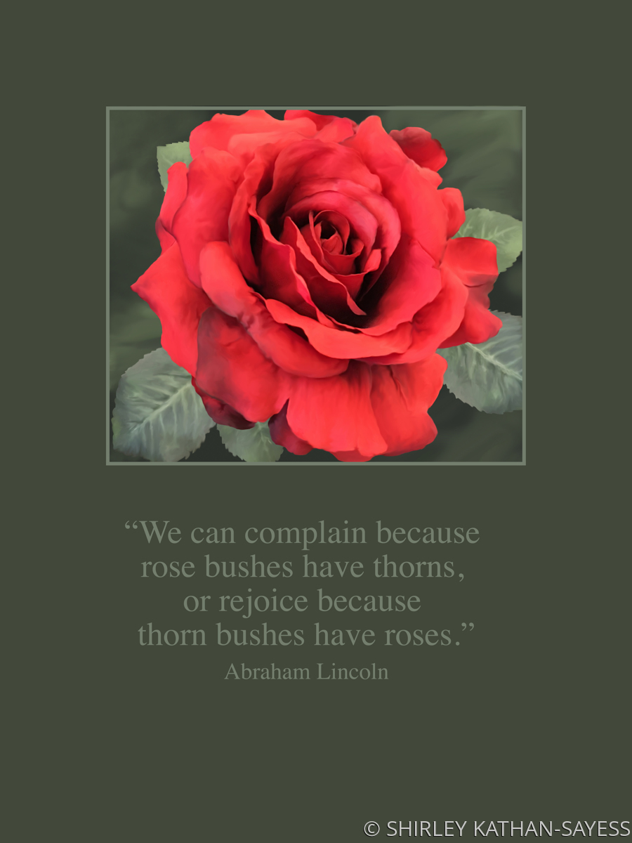 LINCOLN QUOTE - ROSE BUSHES (large view)